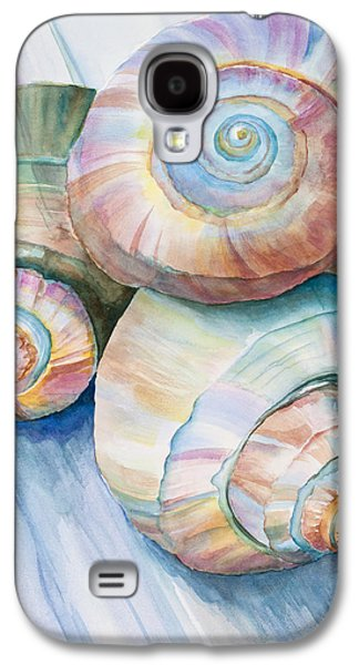 Nature Center Paintings Galaxy S4 Cases - Balance in Spirals Watercolor Painting Galaxy S4 Case by Michelle Wiarda
