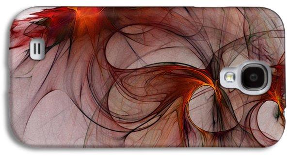 Balance Of Power Abstract Art Galaxy S4 Case by Karin Kuhlmann