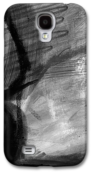 Geometric Abstract Art Galaxy S4 Cases - Balancing Stones 34 Galaxy S4 Case by Linda Woods