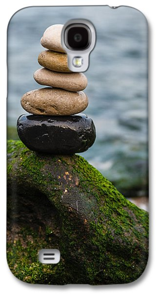Balancing Zen Stones By The Sea IIi Galaxy S4 Case by Marco Oliveira