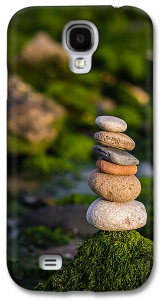 Balancing Zen Stones By The Sea Galaxy S4 Case by Marco Oliveira