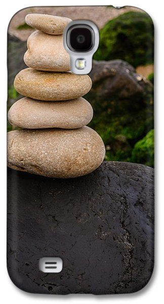 Balancing Zen Stones By The Sea V Galaxy S4 Case by Marco Oliveira