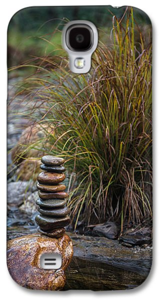 Balancing Zen Stones In Countryside River V Galaxy S4 Case by Marco Oliveira