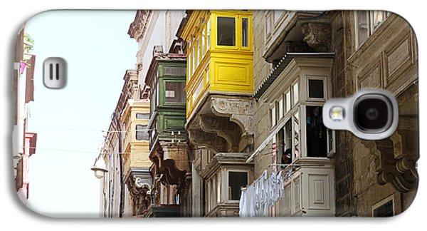 Balcony Galaxy S4 Cases - Balconies of Valletta 1 Galaxy S4 Case by Jasna Buncic