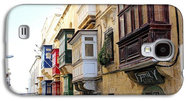 Balcony Galaxy S4 Cases - Balconies of Valletta 3 Galaxy S4 Case by Jasna Buncic