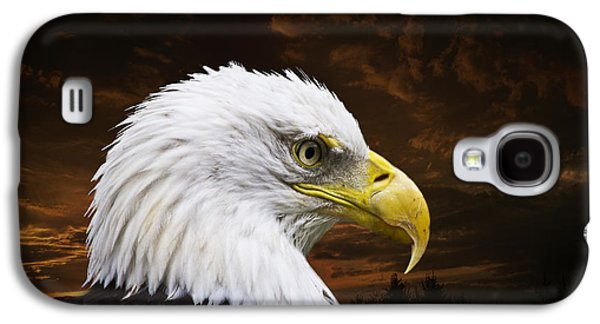 Bald Eagle - Freedom And Hope - Artist Cris Hayes Galaxy S4 Case by Cris Hayes