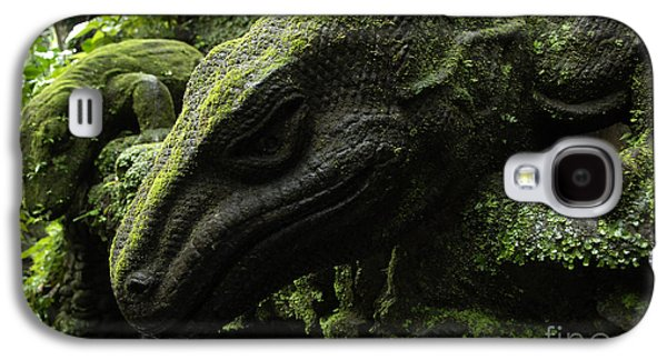 Bali Indonesia Lizard Sculpture Galaxy S4 Case by Bob Christopher