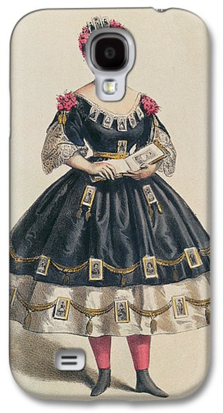 Youthful Drawings Galaxy S4 Cases - Ball Gown decorated with photographic cartes de visite  Galaxy S4 Case by French School