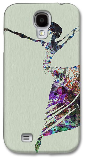 Ballerina Dancing Watercolor Galaxy S4 Case by Naxart Studio