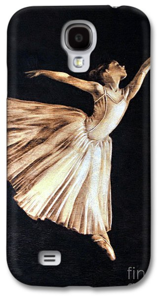 Ballet Dancers Pyrography Galaxy S4 Cases - Ballerina Galaxy S4 Case by Ilaria Andreucci