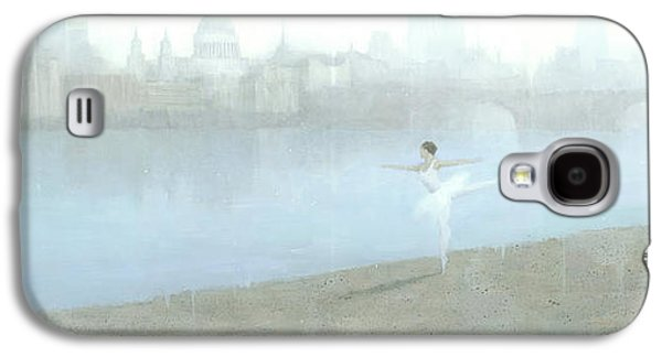 Surreal Landscape Galaxy S4 Cases - Ballerina on the Thames Galaxy S4 Case by Steve Mitchell