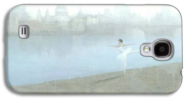 Ballerina On The Thames Galaxy S4 Case by Steve Mitchell
