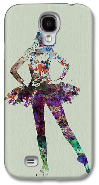 Ballerina Watercolor Galaxy S4 Case by Naxart Studio