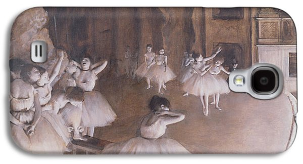 Ballet Rehearsal On The Stage Galaxy S4 Case by Edgar Degas