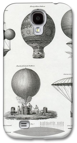 Aviator Drawings Galaxy S4 Cases - Balloon Design From The Late 18th And Galaxy S4 Case by Ken Welsh