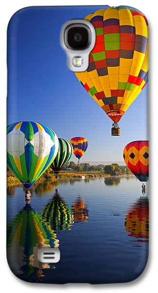 Balloon Reflections Galaxy S4 Case by Mike  Dawson