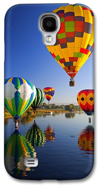 Balloons Galaxy S4 Cases - Balloon Reflections Galaxy S4 Case by Mike  Dawson