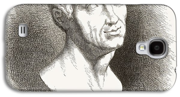 Statue Portrait Drawings Galaxy S4 Cases - Balthasar Denner, 1685 Galaxy S4 Case by Ken Welsh