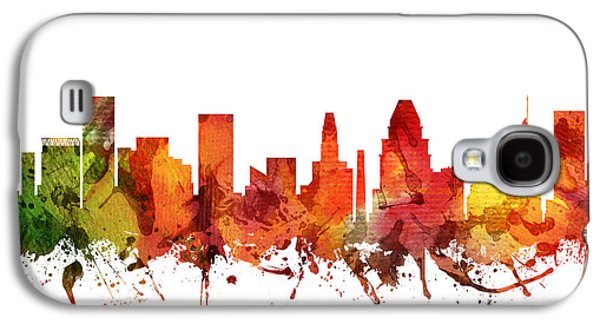 Baltimore Galaxy S4 Cases - Baltimore Cityscape 04 Galaxy S4 Case by Aged Pixel