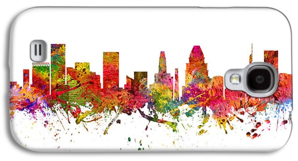 Baltimore Galaxy S4 Cases - Baltimore Cityscape 08 Galaxy S4 Case by Aged Pixel