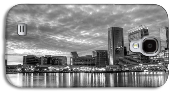 Baltimore Galaxy S4 Cases - Baltimore in Black and White Galaxy S4 Case by JC Findley