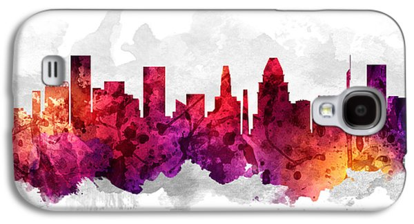 Baltimore Galaxy S4 Cases - Baltimore Maryland Cityscape 14 Galaxy S4 Case by Aged Pixel