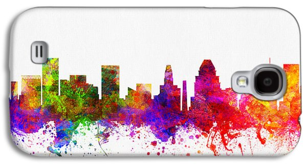 Baltimore Galaxy S4 Cases - Baltimore Maryland skyline color02 Galaxy S4 Case by Aged Pixel