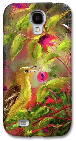 Baltimore Oriole Art- Baltimore Female Oriole Art Galaxy S4 Case by Lourry Legarde