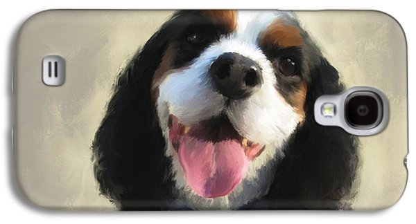 Puppy Digital Art Galaxy S4 Cases - Balues smile Galaxy S4 Case by Diane Chandler