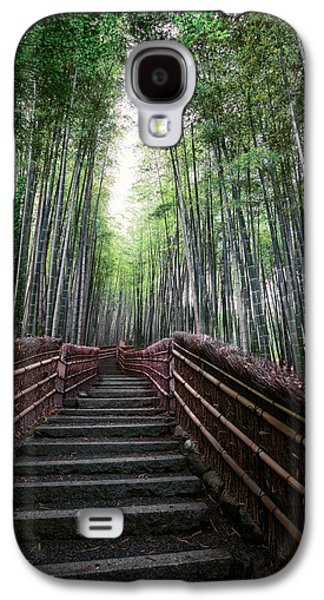 Bamboo Fence Galaxy S4 Cases - BAMBOO FOREST of JAPAN Galaxy S4 Case by Daniel Hagerman