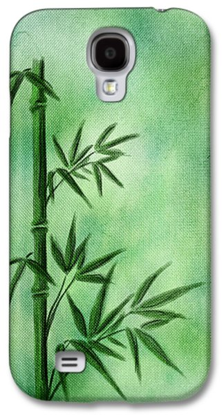 Abstract Digital Mixed Media Galaxy S4 Cases - Bamboo Galaxy S4 Case by Svetlana Sewell