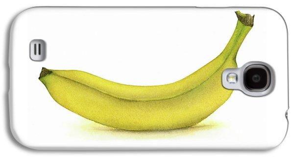 Banana Watercolor Galaxy S4 Case by Taylan Soyturk