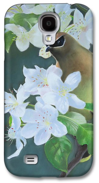 Cherry Blossoms Pastels Galaxy S4 Cases - Bandit in the Blossoms Galaxy S4 Case by Marcus Moller