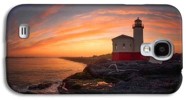 Landscape Acrylic Prints Galaxy S4 Cases - Bandon Sundown Galaxy S4 Case by Darren  White
