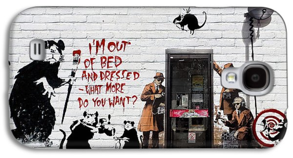 Ultra Modern Galaxy S4 Cases - Banksy - The Tribute - Rats Galaxy S4 Case by Serge Averbukh