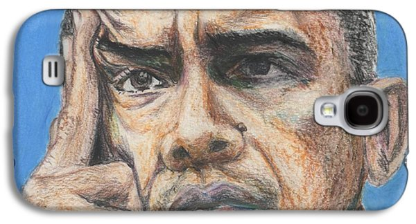 Barack Obama Galaxy S4 Cases - Barack Obama - President Of United States Of America Galaxy S4 Case by Yoshiko Mishina
