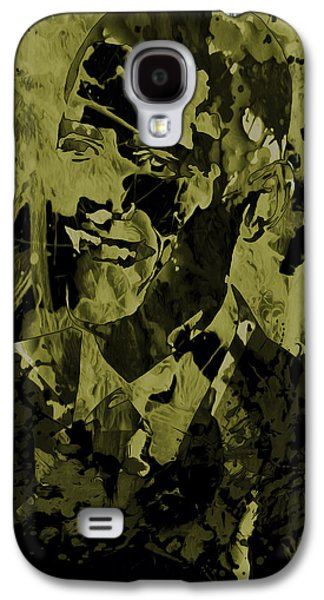 Barack Obama Mixed Media Galaxy S4 Cases - Barack Obama 3a Galaxy S4 Case by Brian Reaves