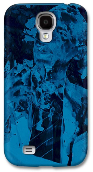 Barack Obama Mixed Media Galaxy S4 Cases - Barack Obama 4a Galaxy S4 Case by Brian Reaves