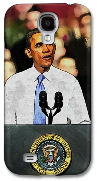 Barack Obama Galaxy S4 Cases - Barack Obama Galaxy S4 Case by Kai Saarto
