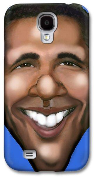 Barack Obama Galaxy S4 Cases - Barack Obama Galaxy S4 Case by Kevin Middleton