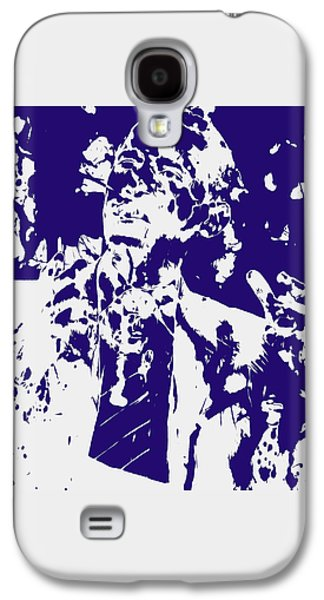Michelle Obama Mixed Media Galaxy S4 Cases - Barack Obama Paint Splatter 4a Galaxy S4 Case by Brian Reaves