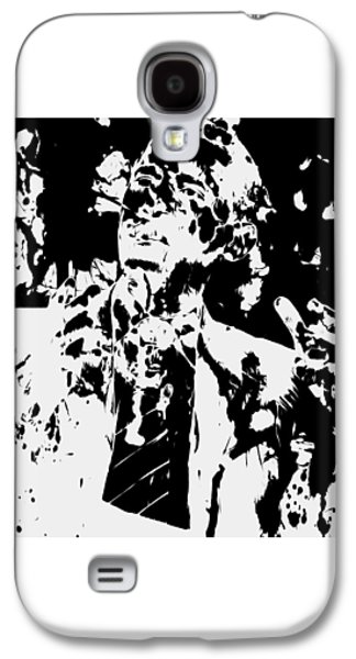 Michelle Obama Mixed Media Galaxy S4 Cases - Barack Obama Paint Splatter 4b Galaxy S4 Case by Brian Reaves