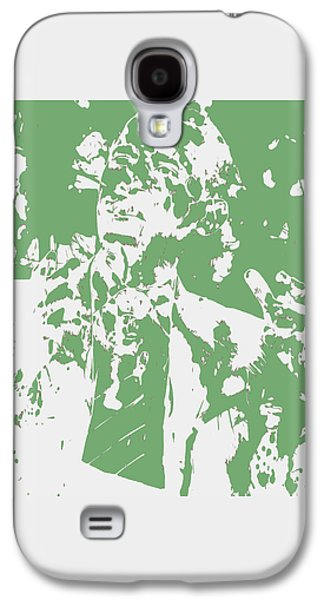 Michelle Obama Mixed Media Galaxy S4 Cases - Barack Obama Paint Splatter 4c Galaxy S4 Case by Brian Reaves