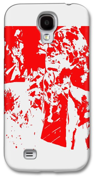 Michelle Obama Mixed Media Galaxy S4 Cases - Barack Obama Paint Splatter 4d Galaxy S4 Case by Brian Reaves