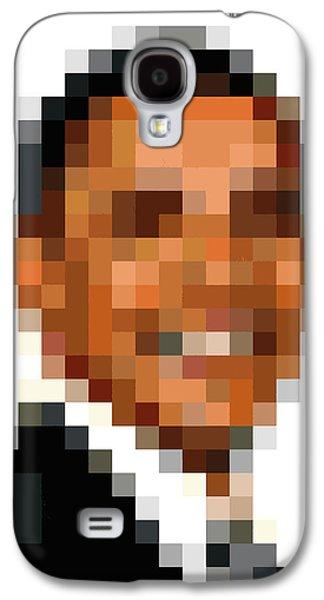 Barack Obama Galaxy S4 Cases - Barack Obama Pixelface Galaxy S4 Case by Pixel Face