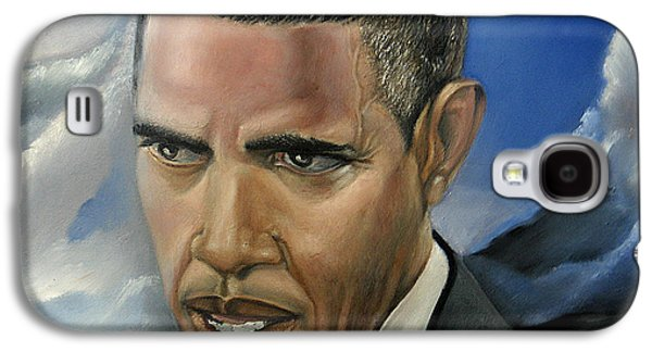 Obama Paintings Galaxy S4 Cases - Barack Galaxy S4 Case by Reggie Duffie