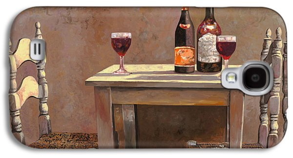 Wine-glass Paintings Galaxy S4 Cases - Barbaresco Galaxy S4 Case by Guido Borelli