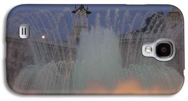 Transportation Glass Galaxy S4 Cases - Barcelona in the Mist Galaxy S4 Case by Marsha Painter