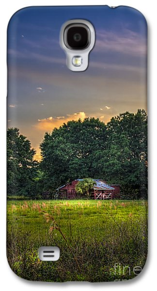 Rain Storms Galaxy S4 Cases - Barn and Palmetto Galaxy S4 Case by Marvin Spates