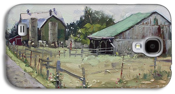 Barns And Old Shack In Norval Galaxy S4 Case by Ylli Haruni